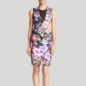 Floral Sheath Dress by Clover Canyon (XS)
